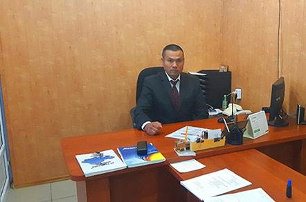 Начальник охраны Каратаев Нурлыбек Марданович
