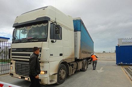 Проверка заезжающего автотранспорта