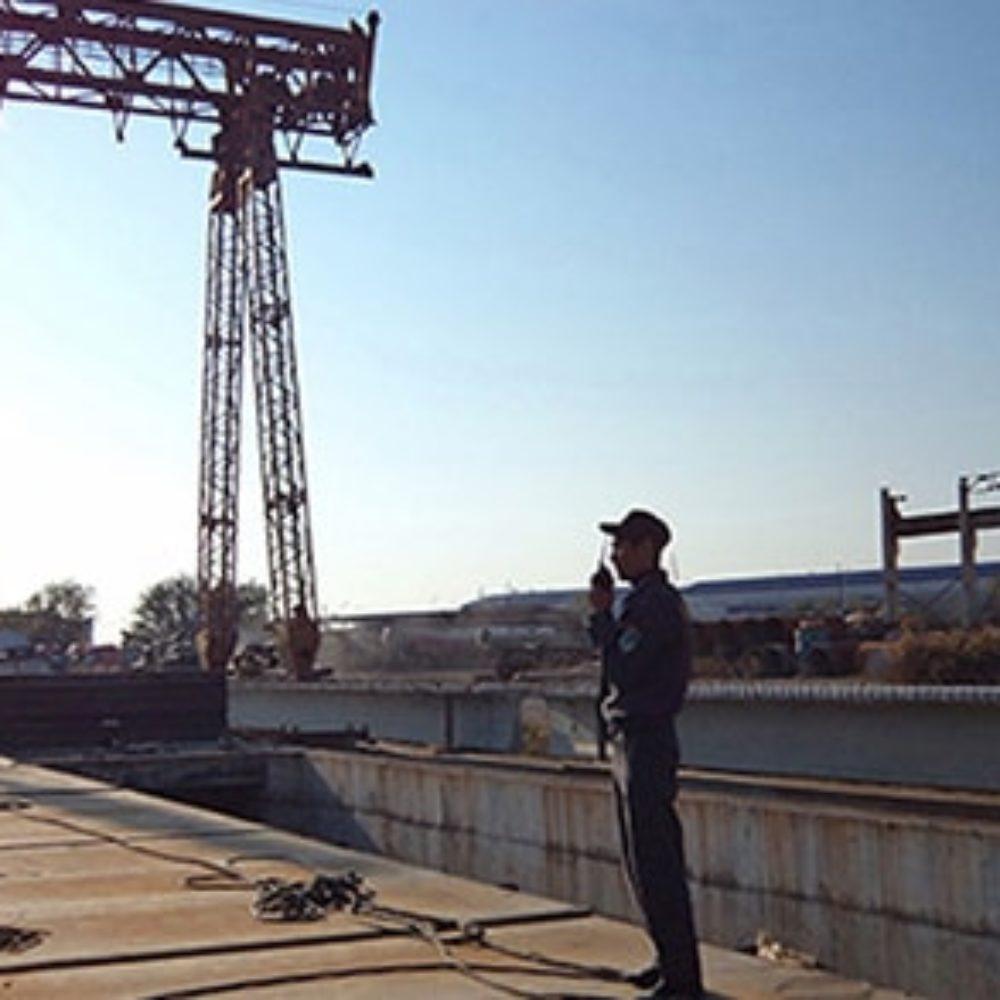 Работа охраны на объекте ТКА