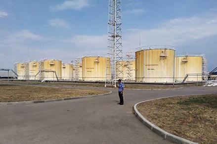 Обход территории резервуары хранения ГСМ