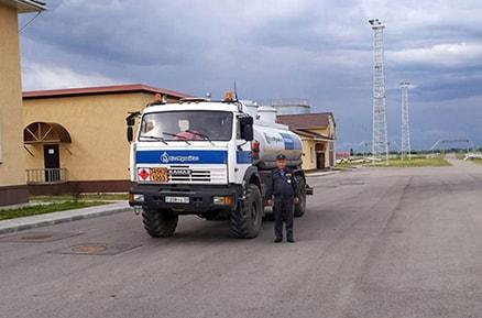 Сопровождение автотранспорта по территории объекта
