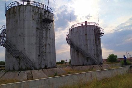 Обход территории надземных резервуаров хранения ГСМ