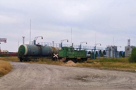 Охраняемая территория заливной станции Тамыз КА