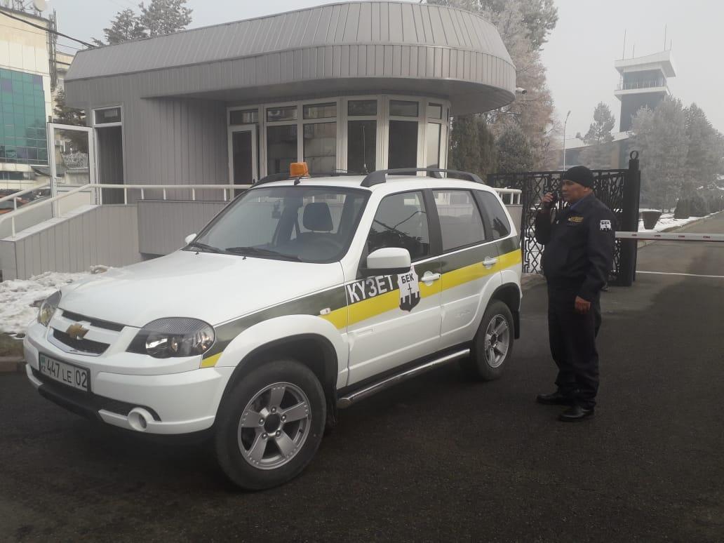 Экипаж ГОР на охране КПП