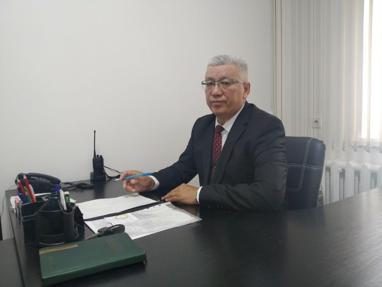 Начальник охраны объекта «ИВВП» АО «МАА» Садибеков М.Т.